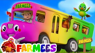The Wheels On The Bus Go Round And Round | Kids | Baby Songs For Children by Farmees