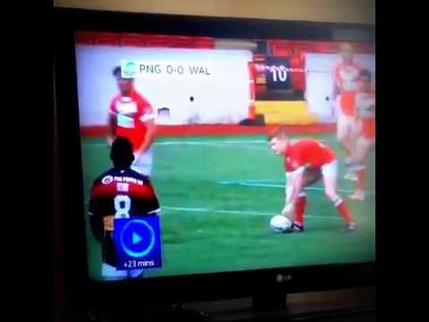 The funniest moment in Rugby League history. Wales v Papua New Guinea 'fight'