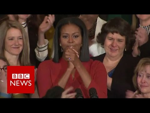 Michelle Obama s final First Lady speech BBC News