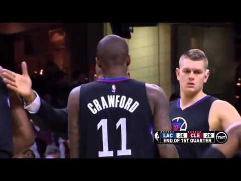 Jamal Crawford hits sick 1Q buzzer-beater vs Cleveland!