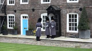 Changing of the guard at Queen's House, Tower of London.