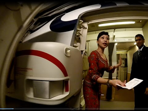 Singapore Airlines SQ 324 Singapore to Amsterdam Peranakan Food in Economy Class