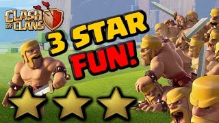 3 STAR FUN! Clash Cup Round 1 - TH9, TH10 & TH11 Attacks | Clash of Clans