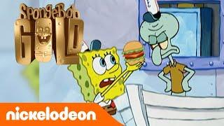 Spongebob Gold | Squiddy vs Krabby Patty | Nickelodeon