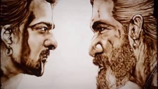 Original Baahubali 2: The Conclusion New Trailer   Sand Art   Sarvam Patel   Sand Artist - India