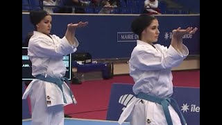 Karate 1 Paris 2019. Final: Team Kata Female Iran vs. Russia