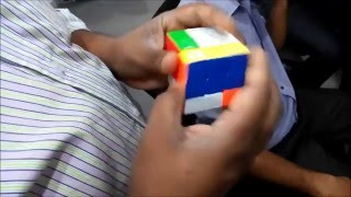 এক মিনিটে রুবিক্স কিউব Rubik's cube solving in less than a minute