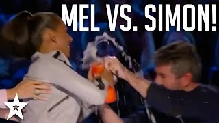 Scary Spice Mel B THROWS WATER Over Simon Cowell! | Got Talent Global