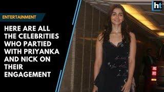 Spotted: Celebs  at Priyanka Chopra, Nick Jonas engagement party