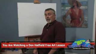 Free Art Lesson - Don Hatfield - Posing a Live Model