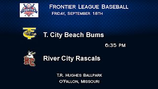 Frontier League Championship Series Baseball 9-18-15 River City Rascals vs Traverse City Beach Bums
