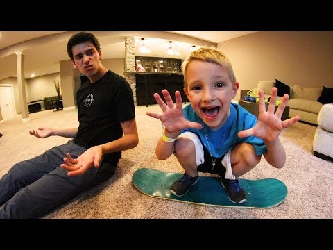 6 YEAR OLD BEATS ME IN CARPETBOARD S.K.A.T.E. AGAIN