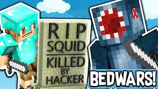 KILLED BY A HACKER in BEDWARS?!! - MINECRAFT MINI GAME