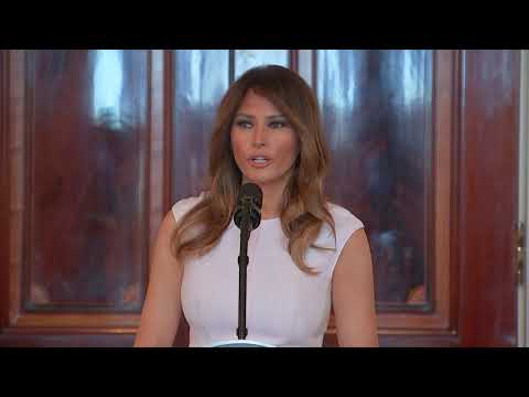 Xxx Mp4 Melania Trump Is Heartened To See Students Speak Out After Shooting 3gp Sex