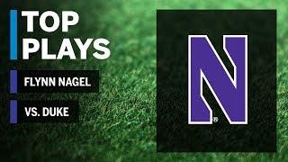 Top Plays: Flynn Nagel vs. Duke Blue Devils  | Northwestern | Big Ten Football