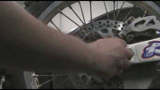 Part 19: How to disassemble a motocross bike. Removing Rear Wheel. YZ250F Example.