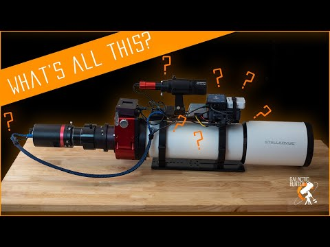 Cable management and accessories explained on our refractor telescope