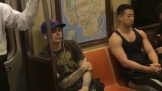 Hot Asian dude on the NYC subway!