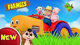 Tractor Song | Nursery Rhymes | Kids Songs Farmees | Baby Rhymes