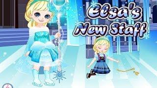 Elsa's New Staff Full Movie Play for Kids Fun-Disney Frozen Games-Princess Elsa Videos