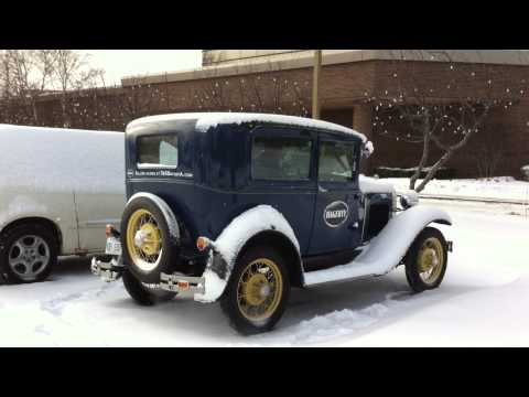 1930 Model A Ford Cold Start 15 Degrees Fahrenheit