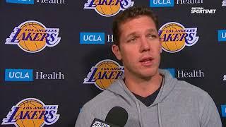 Luke Walton Pregame Interview / LA Lakers vs Kings