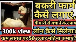 #goatfarm।बकरी पालन से कमाएं  6.5 लाख। ।लोन लेने के तरीके ।How to start a goat farming ।
