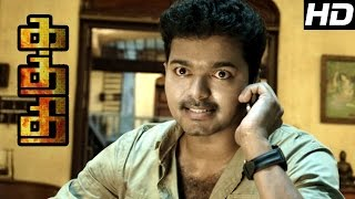 Kaththi Movie scenes | Kaththi mass fight Scene | Kaththi Interval | Samantha-Vijay Loves each other