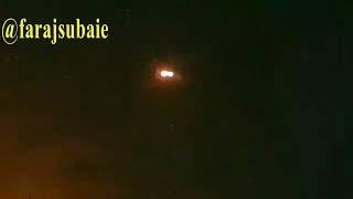 لحظة اعتراض صاروخ سكود داخل الأجواء السعودية