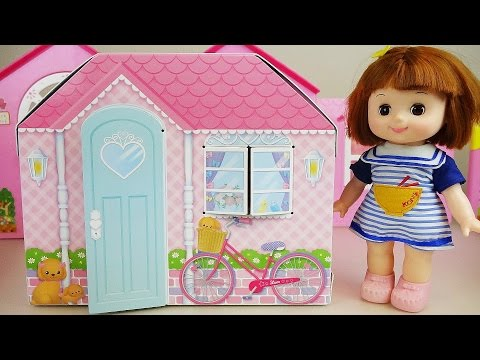 Baby Doll two story house paper toys