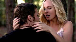 5x11 Klaus and Caroline kiss & Klaroline moments - The Vampire Diaries
