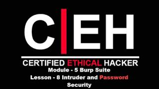 CEH Module - 5 Burb Suite Lesson - 8 Intruder and Password Security
