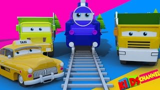 Toy Train | Street vehicles for kids | Learn transport | children cartoon cars video