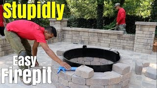 Super Easy Fire Pit build - DIY How to build a patio firepit - Little Known Tips, design & ideas