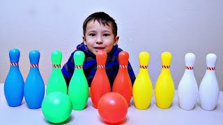 Play and Learn Colors with Bowling Pin Toy Set