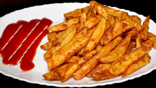 Masala French Fries Recipe - Crispy Potato Finger Chips - Tea Time Recipe