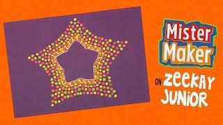 Spotty Dotty Star Make | Mister Maker's Arty Party | ZeeKay Junior