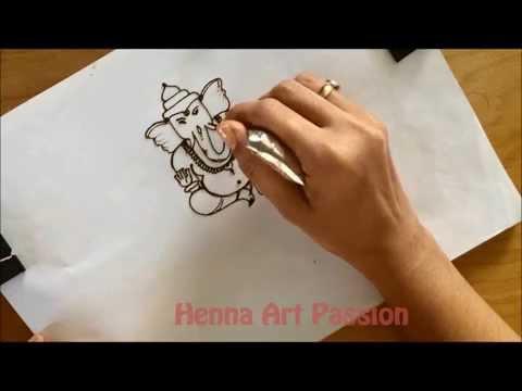 Xxx Mp4 Learn How To Draw Simple Full Body Ganesha Mehendi Tattoo Tutorial 3 3gp Sex