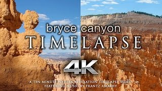 Bryce Canyon 4K 60fps TIMELAPSE   Nature Relaxation™ Music Video + Indian Flute Sounds