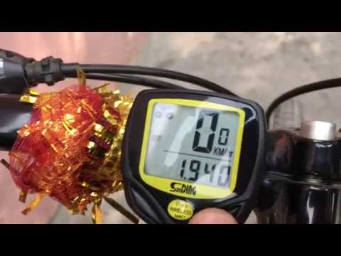 Sunding Speedometer(Bicycle Computer)-SD-548C Installation & Functions Hindi