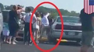 أم شجاعة من كنساس تحطم زجاج نافذة سيارة في سبيل انقاذ رضيع اختنق في الداخل