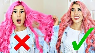 7 Stages Of Pastel Pink Hair!