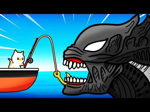 Catching SECRET ALIEN SHARK Cat Goes Fishing