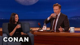 Mila Kunis & Conan Chew On Bourbon  - CONAN on TBS