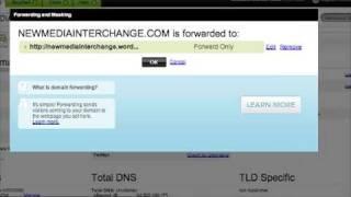 Forwarding GoDaddy Domain to Wordpress.com blog