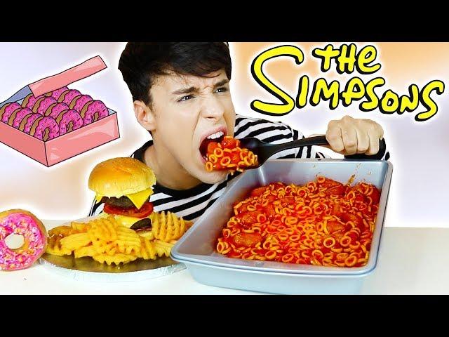 Ich habe nur DIE SIMPSONS NAHRUNG für 24 Stunden gegessen!!!