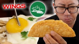 We tried FAST FOOD Mexican Chains // Pozole, Mole, Sopes, Pambazo & MORE!!