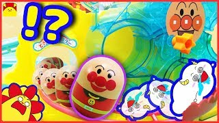 アンパンマン アニメおもちゃ★コロロンアスレチックやなみのりアイランドと合体して巨大コロロンゆうえんちに★観覧車 のりもの くるま anpanman amusement park kids toy