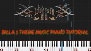 Billa 2 Theme music piano tutorial | Tamil song piano | Piano synthesis |  Piano cover