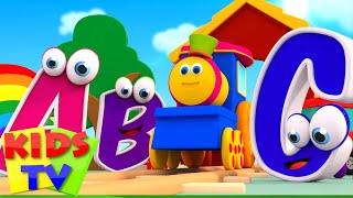 ABC Song | abc adventure | kids tv show | abc songs for children | Bob The Train abc songs